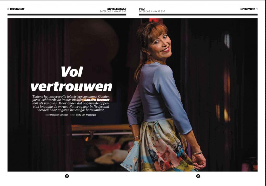 Telegraaf 4 maart 2017 interview Sandra Reemer 1