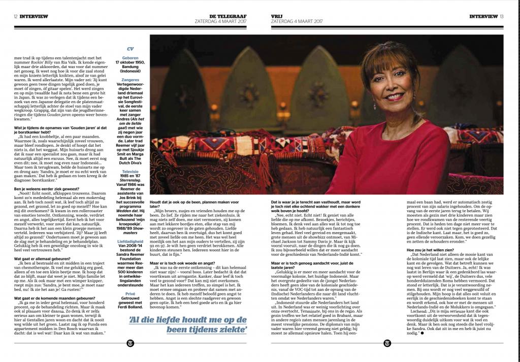 Telegraaf 4 maart 2017 interview Sandra Reemer 3